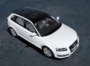 Фото авто Audi A3 8P/8PA [2-й рестайлинг], ракурс: сверху цвет: белый