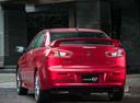 Фото авто Mitsubishi Lancer X [2-й рестайлинг], ракурс: 135 цвет: красный