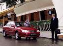 Фото авто Kia Spectra 1 поколение [рестайлинг], ракурс: 315 цвет: красный