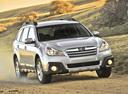 Фото авто Subaru Outback 4 поколение [рестайлинг], ракурс: 315 цвет: серебряный