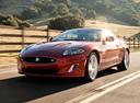 Фото авто Jaguar XK X150 [2-й рестайлинг], ракурс: 45 цвет: красный