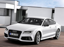 Фото авто Audi RS 7 4G, ракурс: 45 цвет: белый