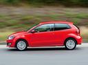 Фото авто Volkswagen Polo 5 поколение, ракурс: 90 цвет: красный
