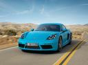 Фото авто Porsche Cayman 982, ракурс: 45 цвет: аквамарин