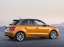 Фото авто Audi A1 8X, ракурс: 270 цвет: оранжевый