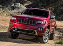 Фото авто Jeep Grand Cherokee WK2 [рестайлинг], ракурс: 45 цвет: красный