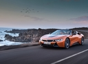 Фото авто BMW i8 I12 [рестайлинг], ракурс: 45 цвет: коричневый