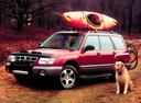Фото авто Subaru Forester 1 поколение, ракурс: 45 цвет: красный