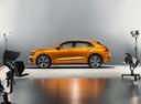 Фото авто Audi Q8 1 поколение, ракурс: 90 цвет: оранжевый