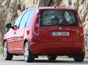 Фото авто Skoda Roomster 1 поколение [рестайлинг], ракурс: 180 цвет: красный
