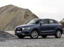 Фото авто Audi Q3 8U [рестайлинг], ракурс: 45 цвет: синий
