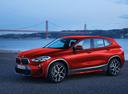 Фото авто BMW X2 F39, ракурс: 45 цвет: красный