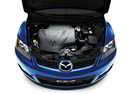 Фото авто Mazda CX-7 1 поколение, ракурс: двигатель цвет: синий