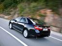 Фото авто Toyota Camry XV50, ракурс: 135 цвет: черный