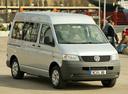 Фото авто Volkswagen Transporter T5, ракурс: 315 цвет: серебряный