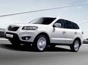 Фото авто Hyundai Santa Fe CM [рестайлинг], ракурс: 45 цвет: белый