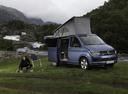 Фото авто Volkswagen California T6, ракурс: 315 цвет: синий