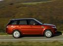 Фото авто Land Rover Range Rover Sport 2 поколение, ракурс: 270 цвет: оранжевый