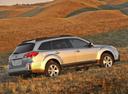 Фото авто Subaru Outback 4 поколение [рестайлинг], ракурс: 270 цвет: серебряный