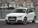 Фото авто Audi A1 8X [рестайлинг], ракурс: 45 цвет: белый
