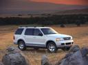 Фото авто Ford Explorer 3 поколение, ракурс: 270 цвет: белый