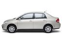 Фото авто Nissan Tiida C11 [рестайлинг], ракурс: 90 цвет: белый