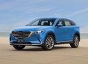 Фото авто Mazda CX-9 2 поколение, ракурс: 45 цвет: голубой
