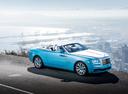 Фото авто Rolls-Royce Dawn 1 поколение, ракурс: 315 цвет: голубой