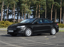 Фото авто Ford Mondeo 5 поколение, ракурс: 45 цвет: черный