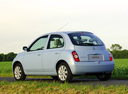 Фото авто Nissan Micra K12, ракурс: 135 цвет: голубой