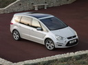 Фото авто Ford S-Max 1 поколение [рестайлинг], ракурс: 315 цвет: белый