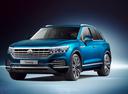 Фото авто Volkswagen Touareg 3 поколение, ракурс: 45 - рендер цвет: синий