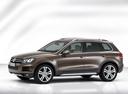 Фото авто Volkswagen Touareg 2 поколение, ракурс: 45 - рендер цвет: коричневый