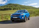 Фото авто Hyundai Creta 1 поколение, ракурс: 45 цвет: синий