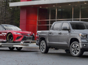 Фото авто Toyota Tundra 2 поколение [3-й рестайлинг], ракурс: 315 цвет: серый