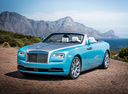 Фото авто Rolls-Royce Dawn 1 поколение, ракурс: 45 цвет: голубой