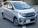 Фото авто Mitsubishi eK B11, ракурс: 315 цвет: серебряный