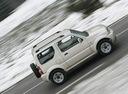 Фото авто Suzuki Jimny 3 поколение [рестайлинг], ракурс: 270 цвет: белый