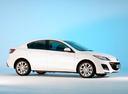 Фото авто Mazda 3 BL, ракурс: 270 цвет: белый
