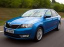 Фото авто Skoda Rapid 3 поколение, ракурс: 45 цвет: голубой