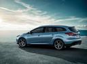 Фото авто Ford Focus 3 поколение [рестайлинг], ракурс: 135 цвет: голубой