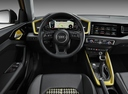 Фото авто Audi A1 2 поколение, ракурс: торпедо цвет: желтый