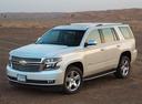 Фото авто Chevrolet Tahoe 4 поколение, ракурс: 45 цвет: белый