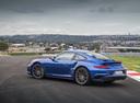 Фото авто Porsche 911 991 [рестайлинг], ракурс: 90 цвет: синий