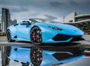 Фото авто Lamborghini Huracan 1 поколение, ракурс: 315 цвет: голубой
