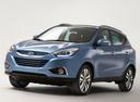 Фото авто Hyundai ix35 1 поколение [рестайлинг], ракурс: 45 цвет: голубой