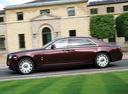 Фото авто Rolls-Royce Ghost 1 поколение, ракурс: 90 цвет: бордовый