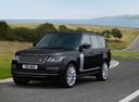 Фото авто Land Rover Range Rover 4 поколение [рестайлинг], ракурс: 45 цвет: черный