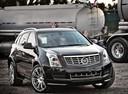 Фото авто Cadillac SRX 2 поколение [рестайлинг], ракурс: 315 цвет: черный