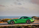 Фото авто Mercedes-Benz AMG GT C190 [рестайлинг], ракурс: 90 цвет: зеленый